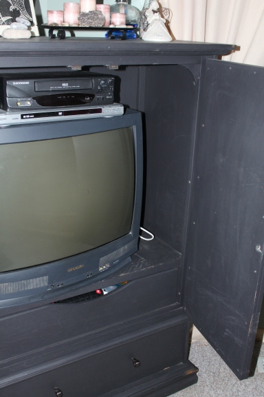 "My old, yet faithful TV. Mike calls it ""hard to see""."