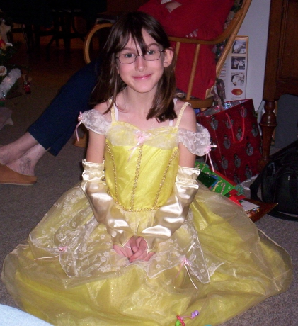 Her favourite princess dress-up costume.